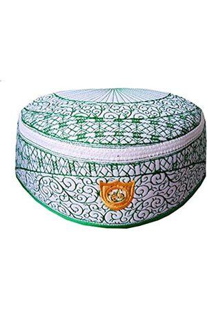 Alwee Alwee Muslimischer Kufi-Hut ALW010 Islam Männer Gebet Schädel Kappe Kopfbedeckung Ramadan Eid Geschenk - Wei� - 56 cm