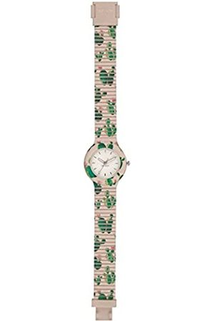 Hip Armbanduhr HIP HOP Frau Fruit quadrante Weiss e uhrarmband in silikon rosa Opuntia