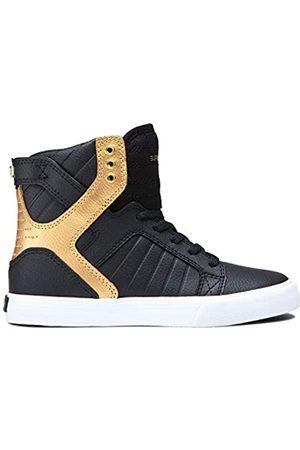Supra Supra Unisex-Kinder Kids Skytop Hohe Sneaker, Schwarz (Black/Gold-White-M 93)