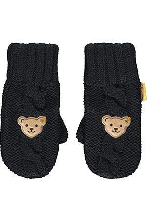 Steiff Mädchen mit süßer Teddybärapplikation Handschuhe, Navy