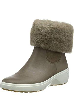 Ecco Damen Soft 7 Wedge Tred ClayMoon Chelsea Boot, (Dark Clay/Moon Rock)