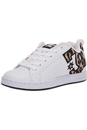DC DC Damen Court Graffik Skate Schuh, Wei (Weiß/Weiß/Rosa)