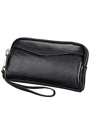 NoBrand Damen-Portemonnaie aus echtem Leder mit Reißverschluss am Handgelenk