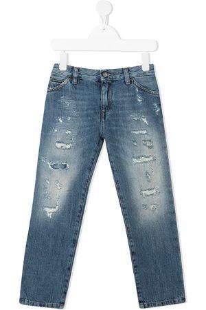 Dolce & Gabbana Distressed-effect slim jeans