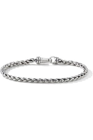 David Yurman 4mm sterling silver wheat chain bracelet