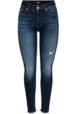 Only ONLY Female Skinny Fit Jeans ONLBlush Life Mid Ankle XL32Dark Blue Denim