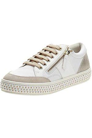 Geox Geox Damen D LEELU' E Sneaker, White/Champagne