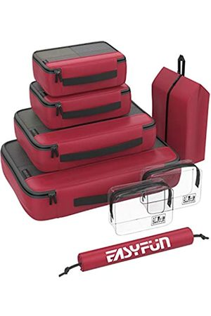 Easyfun Packwürfel, Reisegepäck-Organizer, Rot