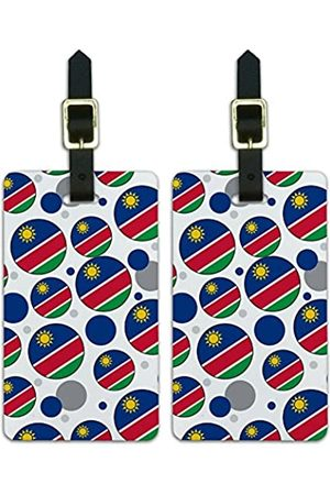 Graphics and More Graphics & More J-n-Namibia Nationalflagge (Weiß) - Luggage.Tags.09645