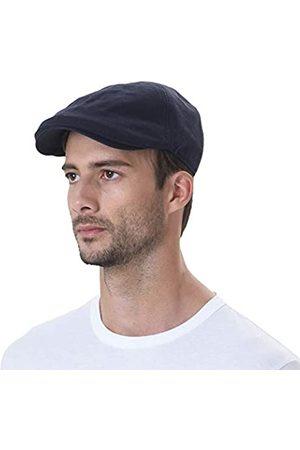 WITHMOONS Schlägermütze Golfermütze Schiebermütze Simple Newsboy Hat Flat Cap SL3026 (Navy)
