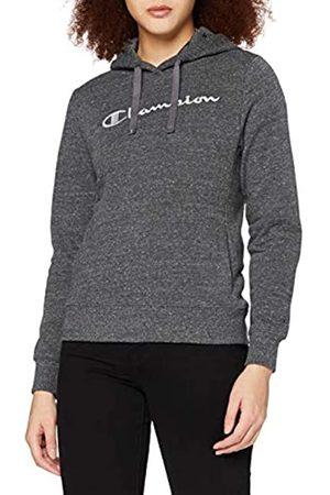 Champion Damen - Classic C-Logo Allover Kapuzenpullover - Grau