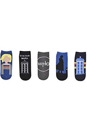 Everything Legwear Doctor Who 13th Doctor Socks Merchandise (5 Paar) – (1 Größe) 13. Dr. Who Socken Cosplay Lowcut Socken Damen & Herren