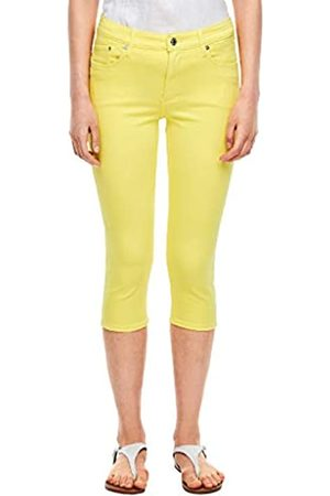 s.Oliver S.Oliver Damen Slim Fit: Caprihose aus Twill yellow 34