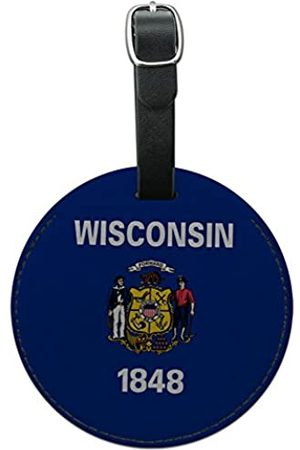 Graphics and More Graphics & More Wisconsin State Flagge, rund