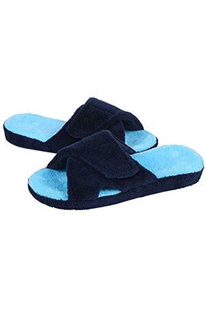 shevalues Shevalues Verstellbare Hausschuhe für Damen, Fußgewölbeunterstützung, Frottee, offene Zehenpartie, Blau (navy)