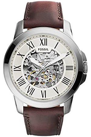 Fossil Fossil Herren Analog Automatik Uhr mit Leder Armband ME3099