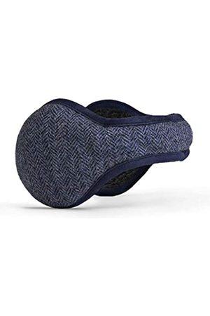 180s Herren Ohrwärmer aus amerikanischer Wolle | Premium Winter Ohrenschützer - Blau - Einheitsgröße