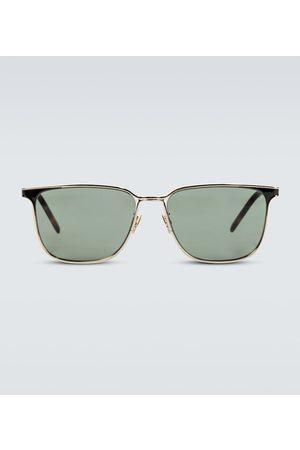 Saint Laurent Eckige Sonnenbrille aus Metall