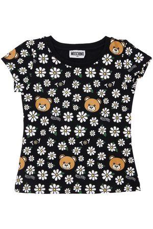MOSCHINO Mädchen Shirts - Bedrucktes T-shirt Aus Baumwolljersey