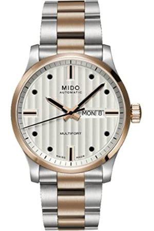 MIDO Mido Herren-Armbanduhr XL Multifort Analog Automatik Edelstahl beschichtet M0058302203102