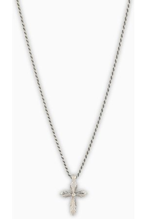 EMANUELE BICOCCHI Silver cross necklace