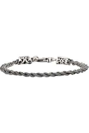 EMANUELE BICOCCHI Braided bracelet in silver with key hook