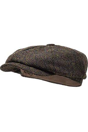 Borges & Scott Lomond Schirmmütze Newsboy – Schiebermütze aus 100% handgewebter Wolle - Harris Tweed - wasserabweisend - 56cm