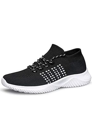 WUTANGCUN WUTANGCUN Damen Wanderschuhe Casual Fashion Sneakers Mesh Atmungsaktive Socken Schuhe (schwarz)