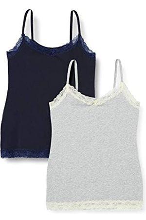 IRIS & LILLY Amazon-Marke: Damen Top Belk029m2, Mehrfarbig (Nachthimmel/Melange/Mixed), XS
