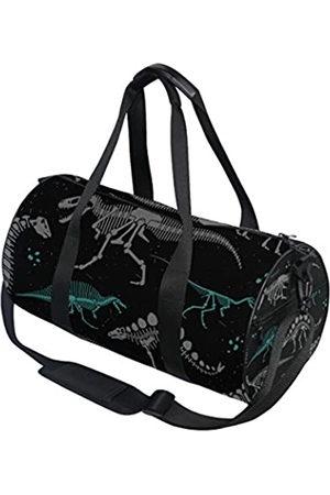 AHOMY AHOMY Dinosaurier Seesack Schwarz Weiß Skelett Sport Gym Taschen für Damen und Herren