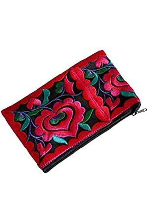 Circle Of Trust Mini-Handtasche mit Handgelenkschlaufe für Frauen – kleine handgefertigte Hmong-Geldbörse