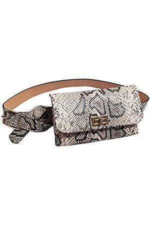 GECHENG Stilvoller trendiger Leoparden-Schlangenleder-Fanny-Gürtel mit abnehmbarem Gürtel für Frauen und Mädchen