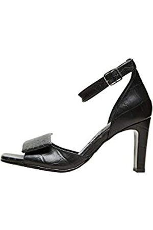 SELECTED Damen SLFMINT Croco HIGH Heel B Sandale, Black