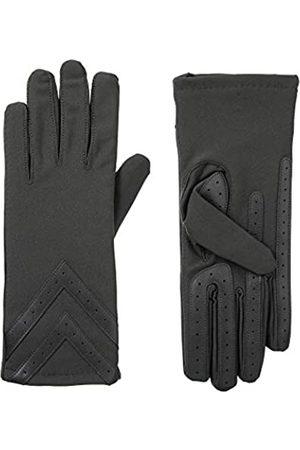Isotoner Damen Fleece-Lined Gloves With Chevron Applique And Smart Touch Handschuhe für kaltes Wetter