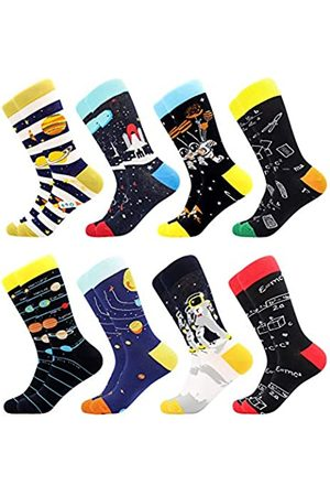 BISOUSOX Herrenstrümpfe Lustige Socken Männer Socken mit Mustern Klassische Strümpfe Modische Socken für Männer Geschenk für Eltern Liebhaber Freunde (Einheitsgröße)