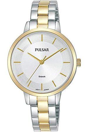 Pulsar Pulsar Quarz Damen-Uhr Edelstahl mit Goldauflage - mit Metallband PH8476X1