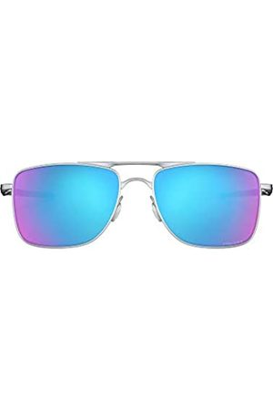 Oakley Herren Gauge 8 OO4124 Sonnenbrille, (Matte Lead/Prizm Sapphire Lens)