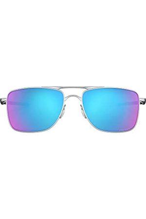 Oakley Oakley Herren Gauge 8 OO4124 Sonnenbrille, Silber (Matte Lead/Prizm Sapphire Lens)