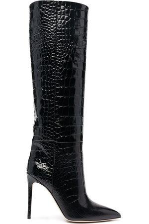 PARIS TEXAS Damen Stiefeletten - Stiefel mit Kroko-Effekt