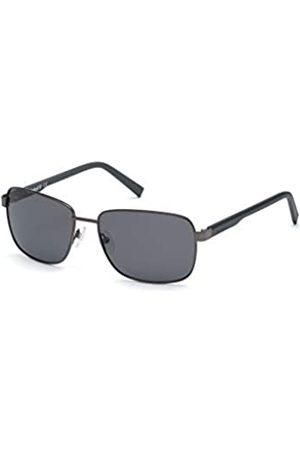 Timberland Eyewear Timberland Eyewear Herren TB9196 Sonnenbrille, Shiny Gunmetal/Smoke Polarized
