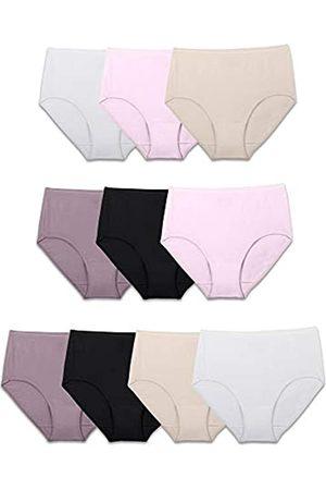 Fruit Of The Loom Damen Underwear Cotton Brief Panty Multipack Unterhose