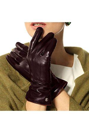 ELMA Damen klassisch touchscreen texting winter-m fahrhaarschaf lederhandschuh 100% reines kaschmirfutter 7.5