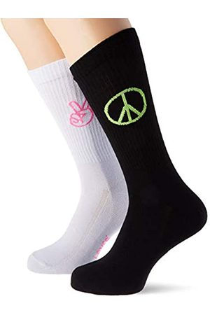 Levi's Unisex-Adult Peace Ribbed Regular Cut (2 Pack) Sock