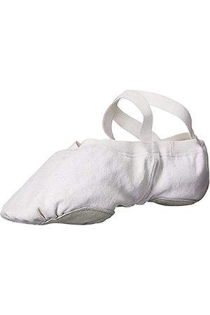Bloch Dance Men's Pump Split Sole Canvas Ballet Slipper/Shoe Dance, White
