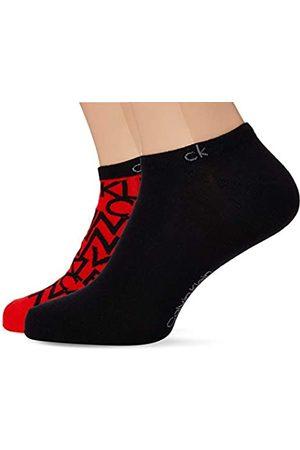 Calvin Klein Socks Mens Liner 2p Deangelo Socks, red/Black