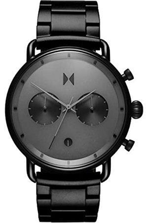 MVMT Herren Analog Quarz Armbanduhr mit Edelstahlarmband D-BT01-BB