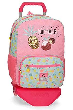 "Enso Enso Juicy Fruits Laptop-Rucksack mit Trolley für die Schule Mehrfarbig 32x42x14 cms Polyester 14"" 18.82L"