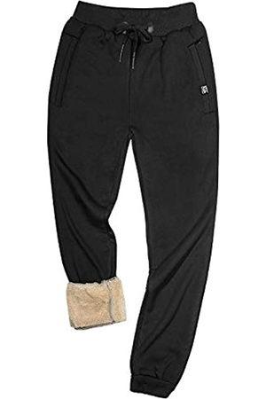 Gihuo Herren-Sweatpants mit Sherpa-Futter, für den Winter