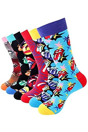 TTD 6 Packungen Rollsocken, kreative große Zungen-Socken für Herren/Damen
