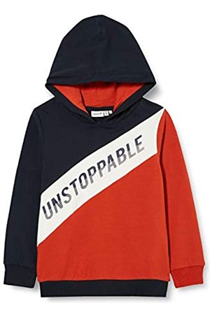Name it NAME IT Jungen NMMOMALLEY LS Sweat WH BRU Box Kapuzenpullover